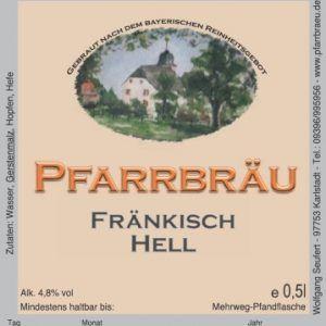 Pfarrbräu Fraenkisch Hell