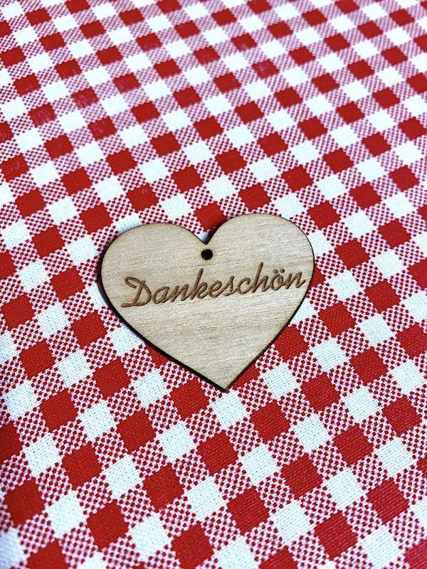 Holzanhänger Herz - Geschenke
