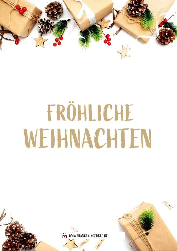 Personalisierte Geschenkkarte Weihnachten