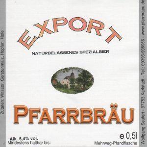 Pfarrbräu Export